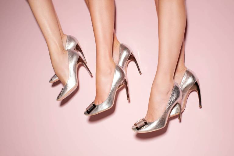 "Belle de Nuit pumps with ""choc"" heel. Spring/Summer 2012 collection."