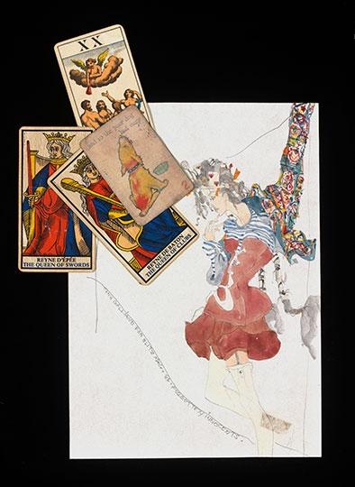 "Sketch for Levi Strauss & Co. denim jacket, ""BLITZ,"" by John Galliano, 1986"