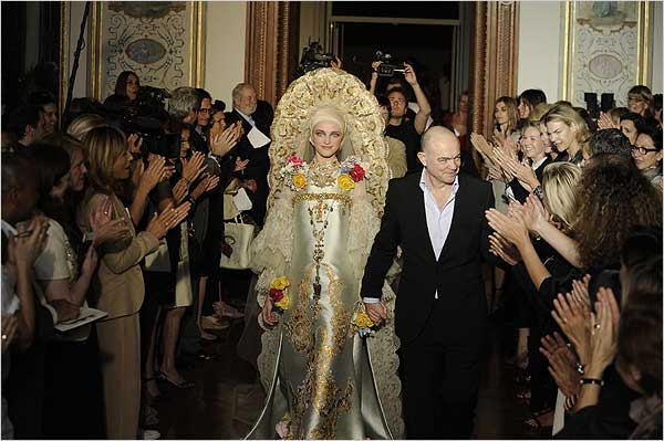 A couture design by Christian Lacroix, back in 2009