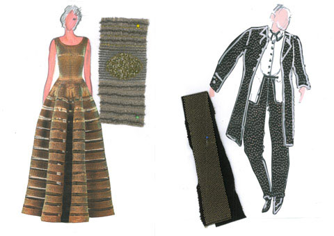 Count and Countess Almaviva will wear the outfits sketched .
