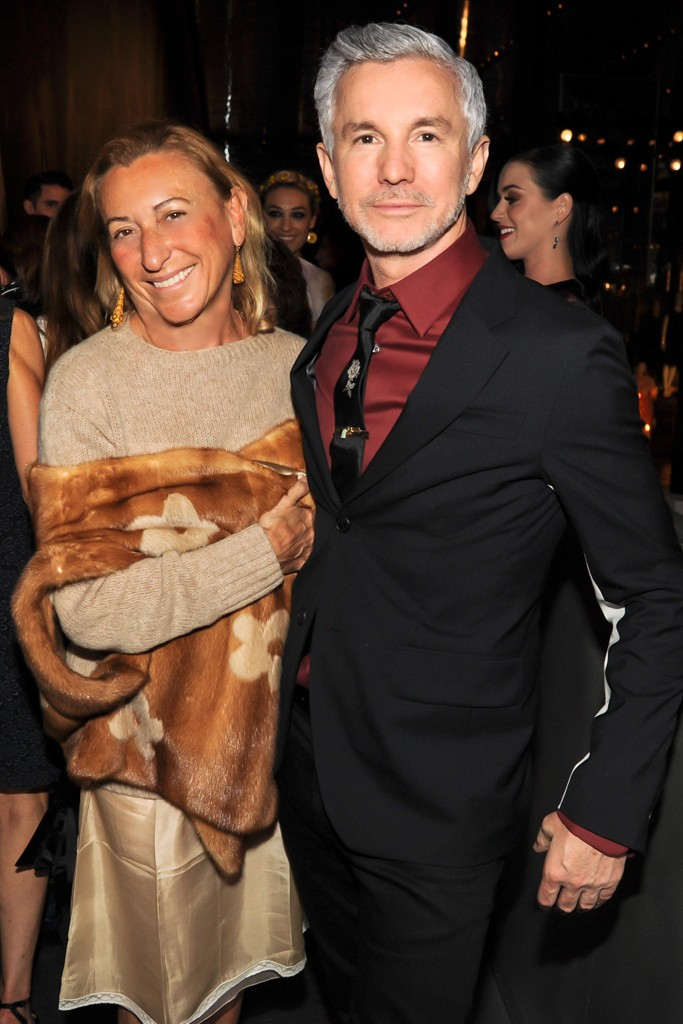 Miuccia Prada and Baz Luhrmann.