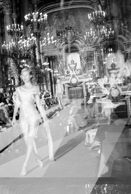 Kate Moss walking for the Chloe show, Paris, 1997