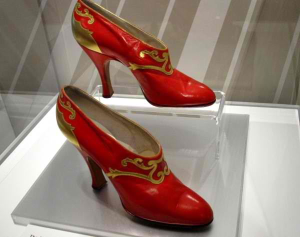Russian influenced Red Shoes by Gronberg, Sweden 1920, Bata Shoe Museum