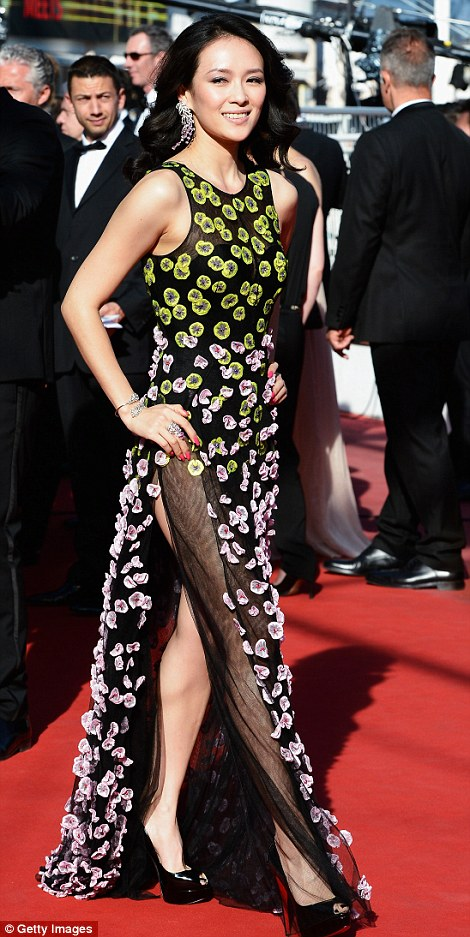 Jury member and actress Zhang Ziyi  baffles fashion critics