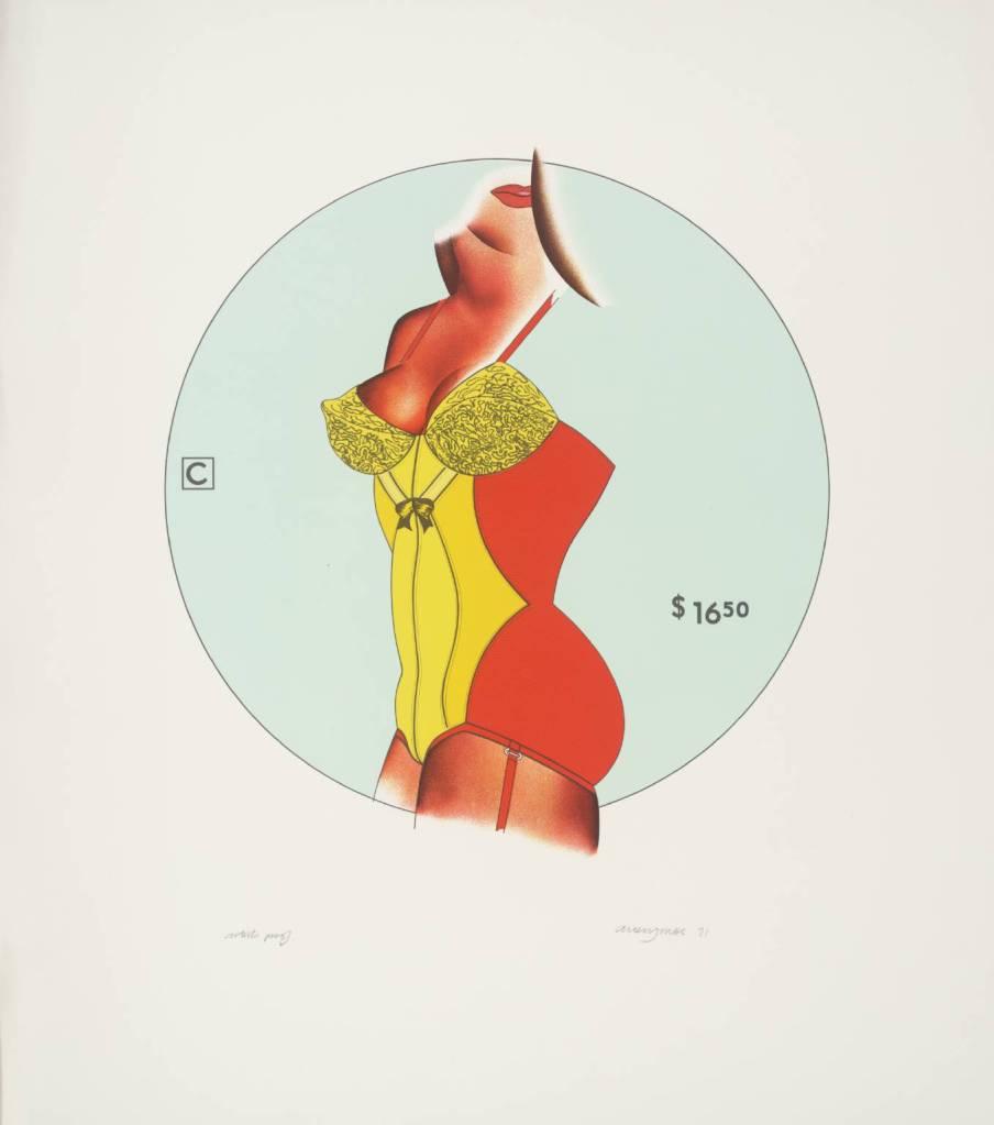 Three-in-One 1971 by Allen Jones born 1937