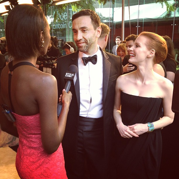 Riccardo and Jessica Chastain