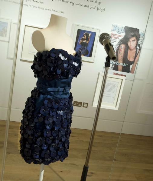 Installation shot: dress by Luella Bartley worn by Amy at Glastonbury 2008