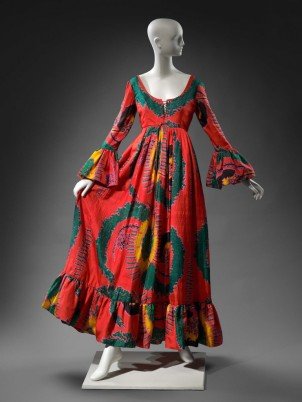 Geoffrey Beene, Woman's dress, 1970. Printed silk plain weave