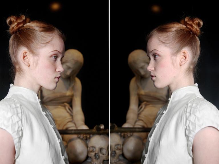CORPICRUDI Aeternitas -  photographic dyptich with sculpture La Maddalena Penitente by Antonio Canova - 2009