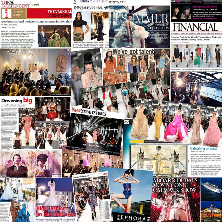 J Model Management's high profile shows on international press 2013 resize