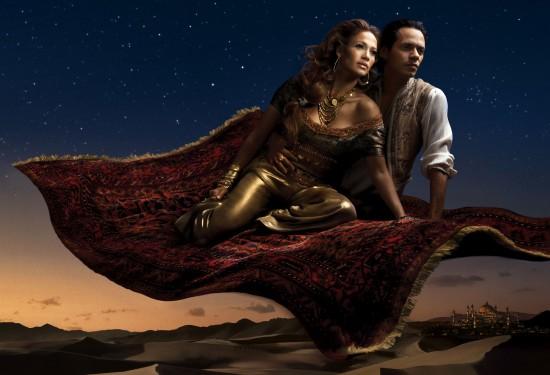 Jennifer Lopez and Marc Antony as Jasmine and Aladdin