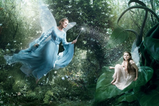 Julie Andrews and Abigail Breslin and Blue Fairy and Fira from Pinocchio