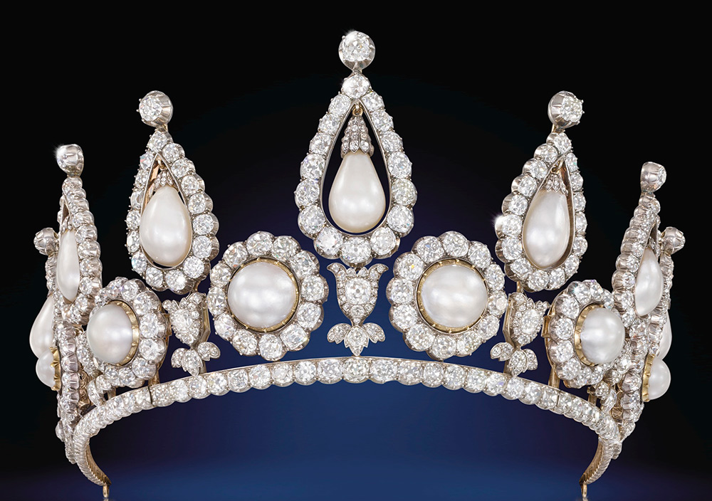 The Rosebery Pearl and Diamond Tiara, London, 1878