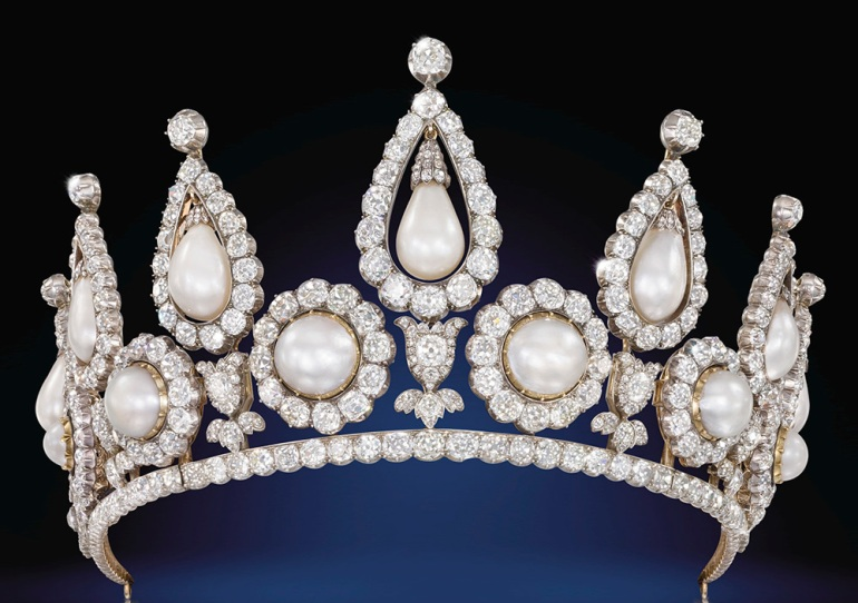 The Rosebery Pearl and Diamond Tiara, London, 1878