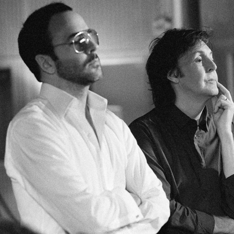 Paul McCartney with Tom Ford