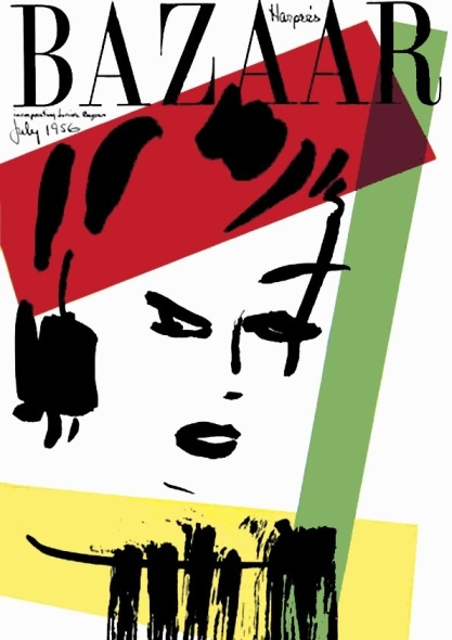 Harper's Bazaar, July 1956. Cover designed by Alexey Brodovitch