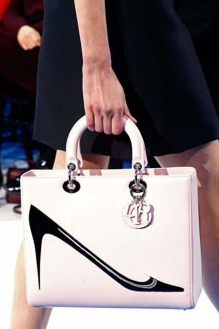 Lady-Dior-Pink-Bag-with-Warhol-shoe-Fall-2013-Runway