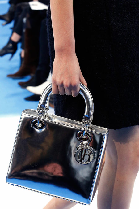 Lady-Dior-Silver-Medium-bag-Fall-2013-Runway