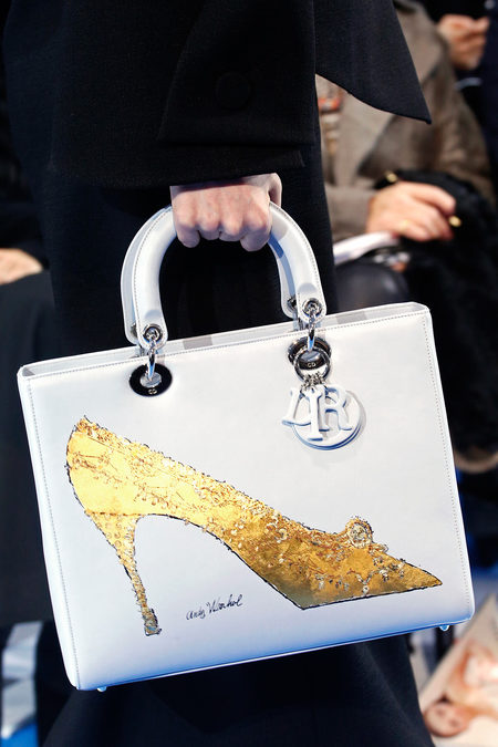 Lady-Dior-White-Bag-with-Warhol-Shoe-Fall-2013-Runway