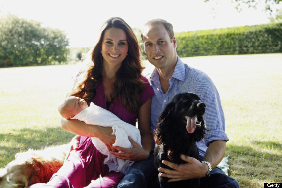 The Duke and Duchess of Cambridge With Their Son Prince George Alexander Louis of Cambridge In Bucklebury