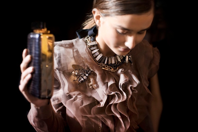 Lanvin backstage at Paris Fashion Week Fall Winter 2013 Collections