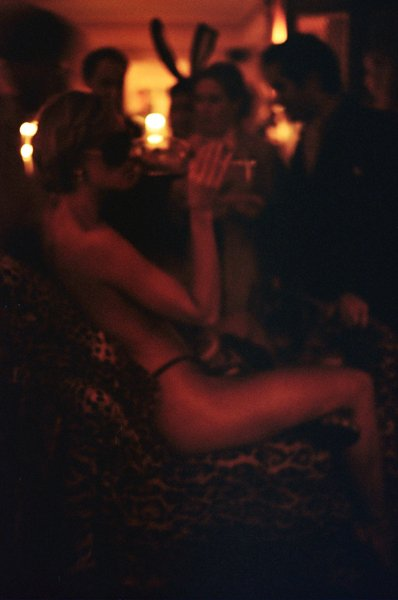 European Playboy charity event (shot on film, in candlelight).