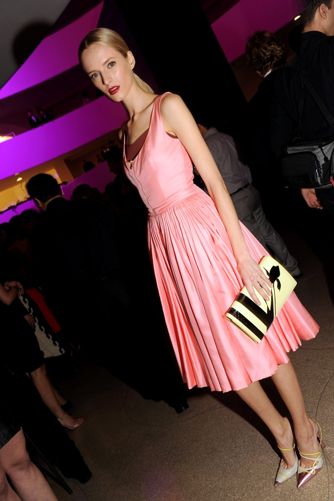 Daria Strokous in Dior.