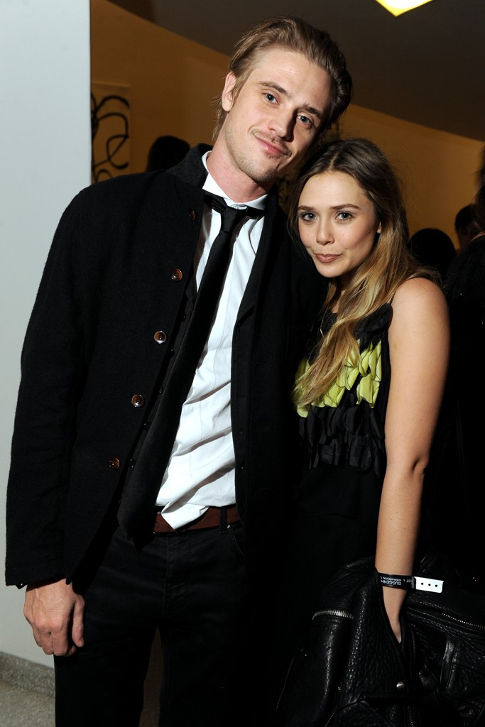 Elizabeth Olsen in Dior with Boyd Holbrook.