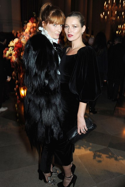 Florence Welch and Kate Moss.