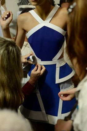 -David Koma-LFW Spring-Summer-2014,backstage