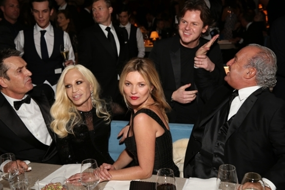 Rupert Everett, Donatella Versace, Kate Moss, Christopher Kane & Sir Philip Green