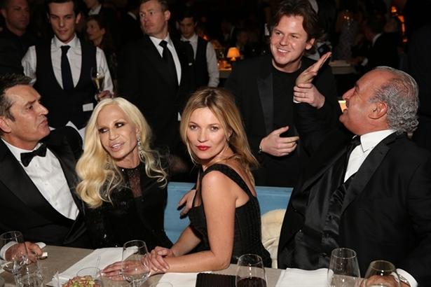 Rupert Everett, Donatella Versace, Kate Moss, Christopher Kane & Sir Philip Green