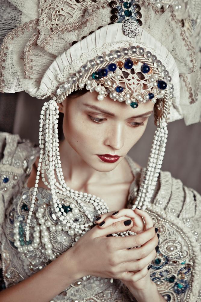 Russian Women Festive Dress Skip 84