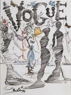 Salvador Dali illustration for Vogue