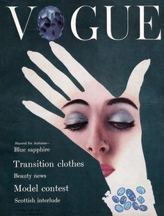 Vogue UK cover, August 1954