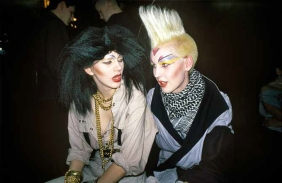 Richard and friend at the Dayglo Ball, Heaven 1984.