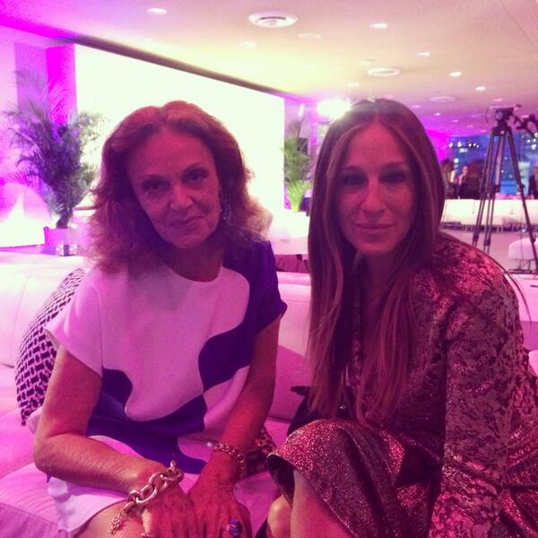Diane Von Furstenberg with Sara Jessica Parker