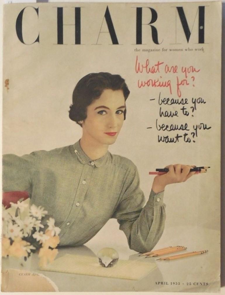 Charm, April 1953