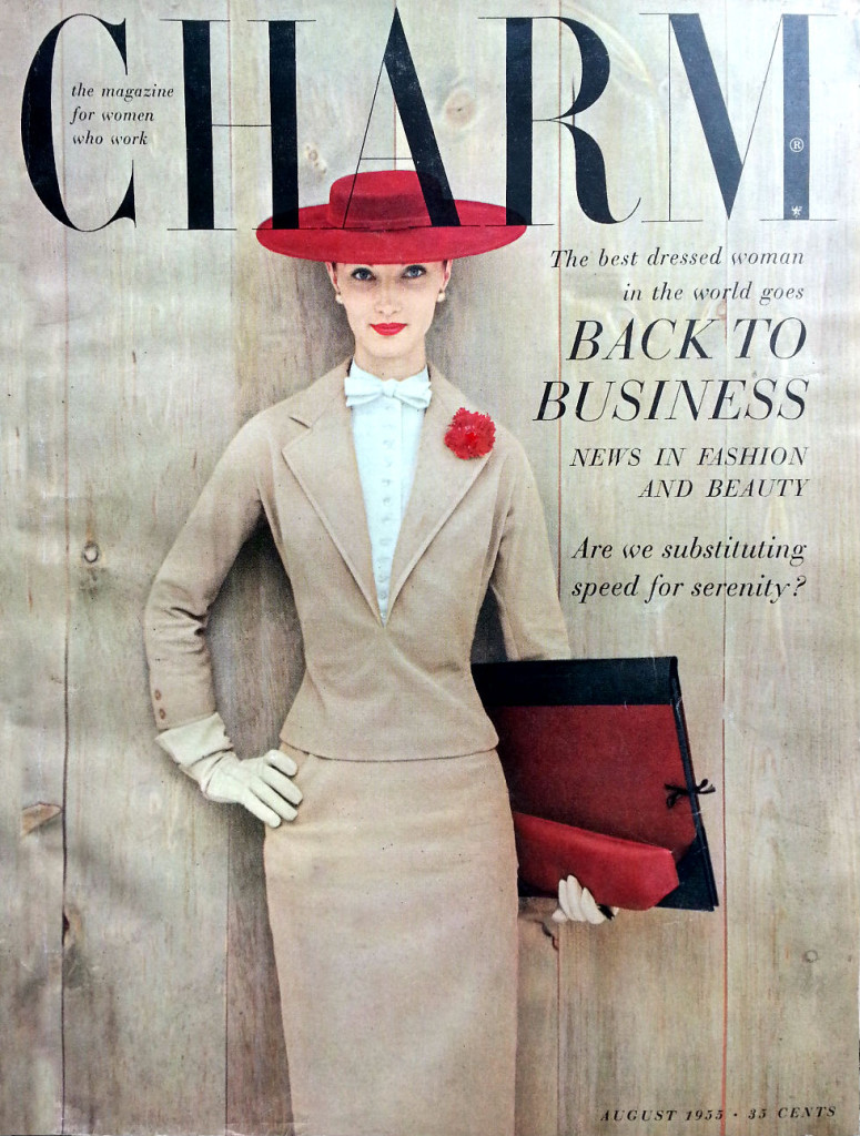 Charm, August 1955.