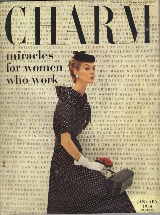 Charm, January 1954