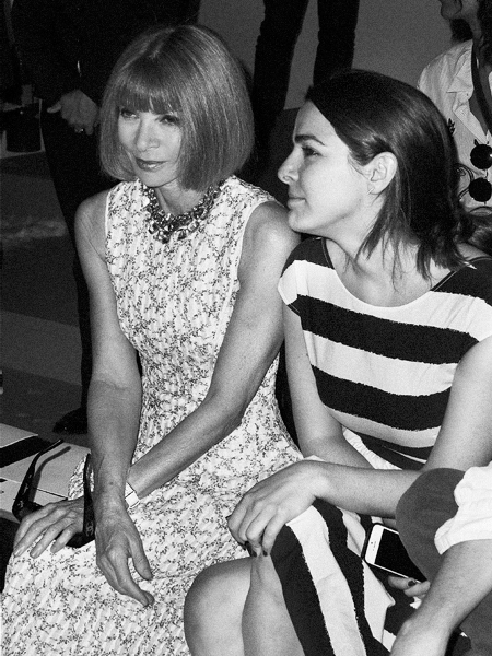 Anna Wintour at the Public School show at Milk