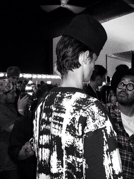 Backstage at Robert Geller
