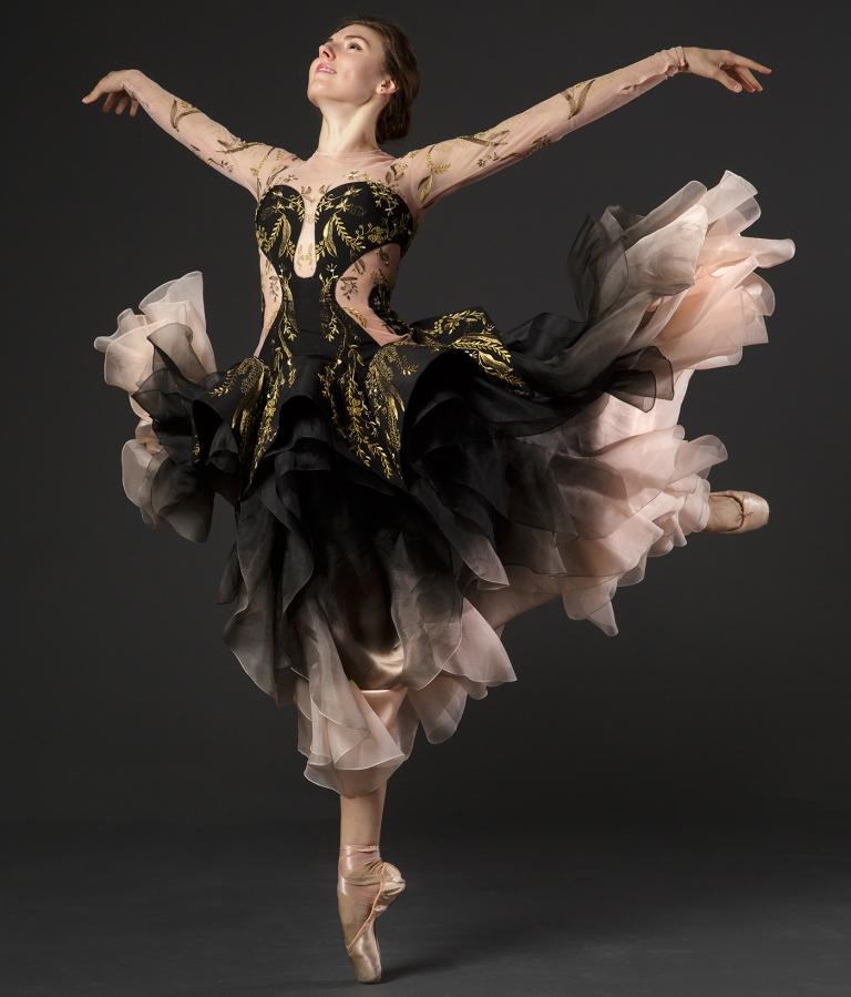 NYCB Principal Dancer Tiler Peck, in Sarah Burton for Alexander McQueen