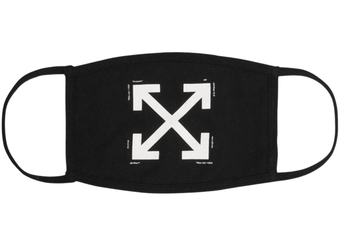OFF-WHITE-Arrows-Face-Mask-Black-White